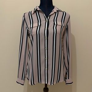 XS Striped Loft Blouse